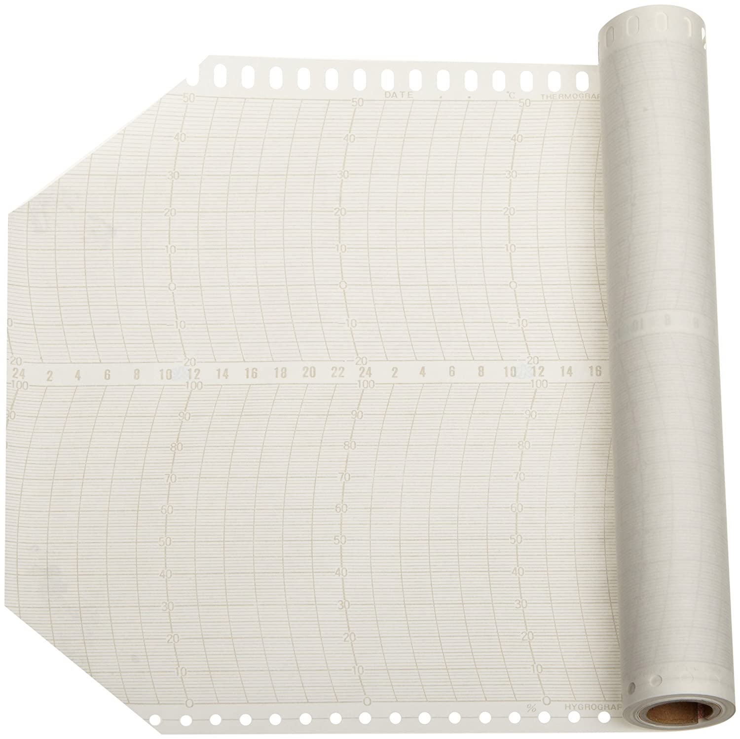 114 Length x 6.6 Height Oakton WD-37250-60 Long Cycle C Chart Paper Hygrothermograph 1 month