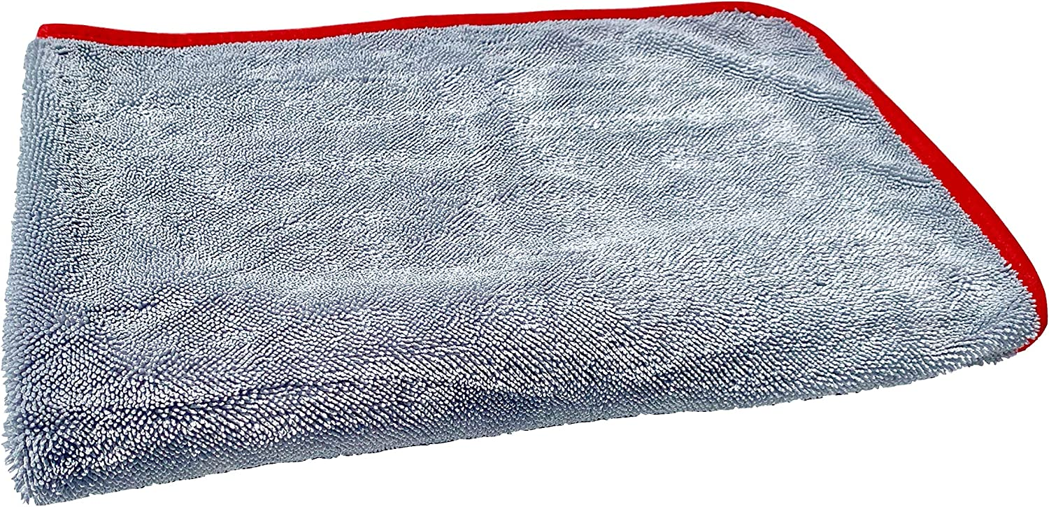 Redline Finish - The One Ultimate Microfiber Drying Towel - Extra Large 37 x 30 inches, Faster Drying, Scratch Free Drying