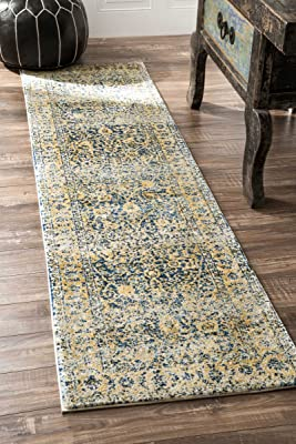 """Traditional Vintage Flourish Multi Runner Area Rugs, 2 Feet 1 Inches by 8 Feet (2' 1"""" x 8')"""