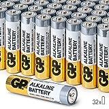 Piles AAA Pack Economique par GP Batteries alcalines 1.5V AAA haute performance (boîte de 32)