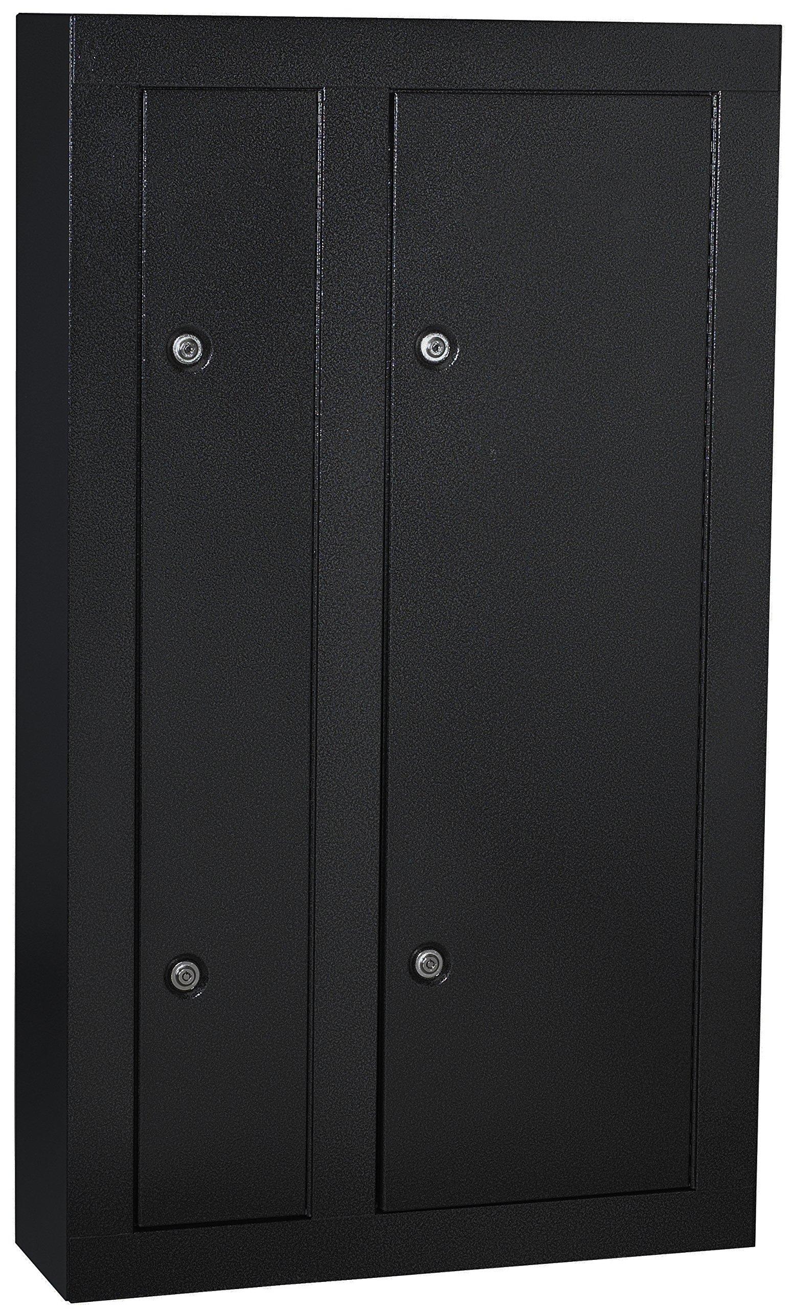 Homak HS30136028 8-Gun Double Door Security Cabinet, Black