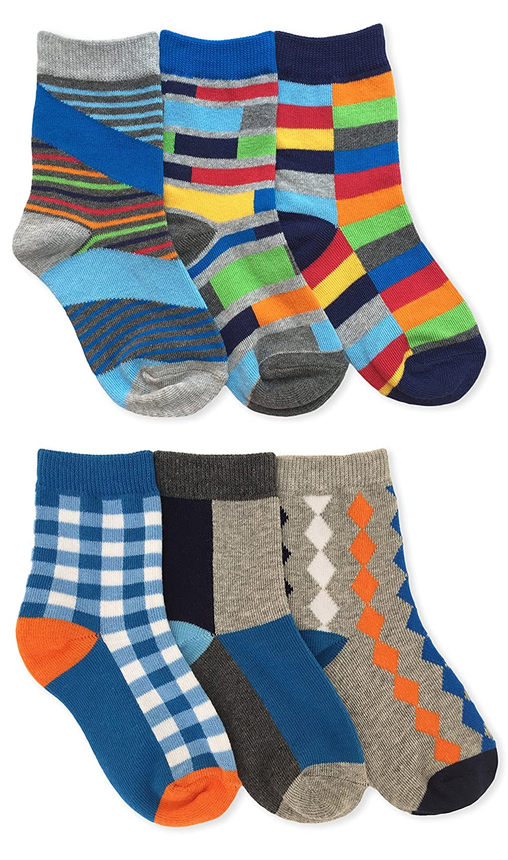Jefferies Socks Boys Fashion Crew Socks 6 Pack