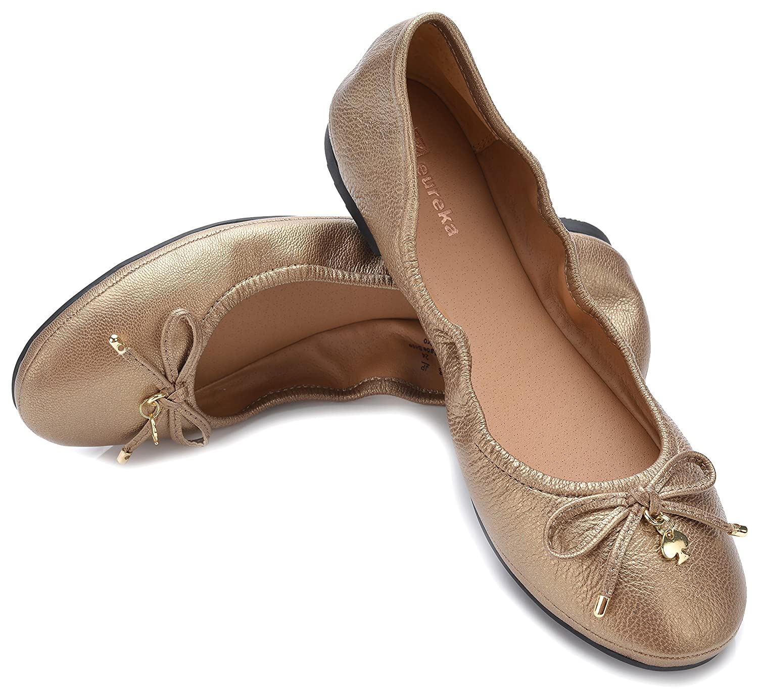 Eureka USA Women's Universe Leather Ballet Flat B074V3FCR7 9 B(M) US|505 Bronze Gold
