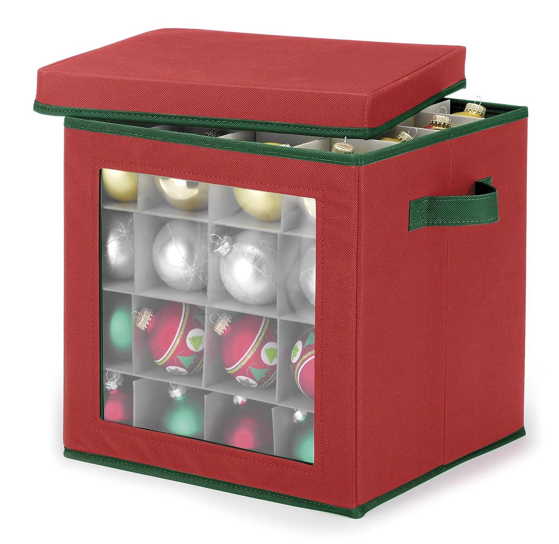 Individual ornament boxes - Amazon Com Whitmor Ornament Storage Cube 64 Compartments Home Kitchen