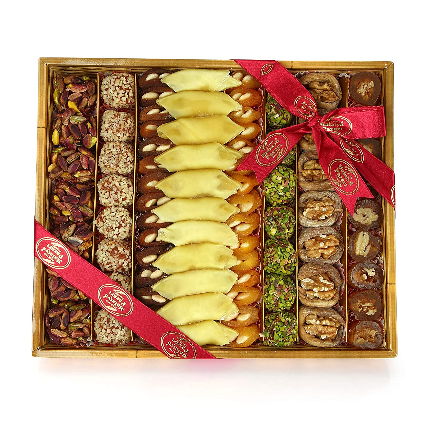 Premium Natural Dried Fruit and Nut Basket 16 Variety of Healthy Gourmet Snack Arrangement For Gift and You (1500 gr/52.9 oz)