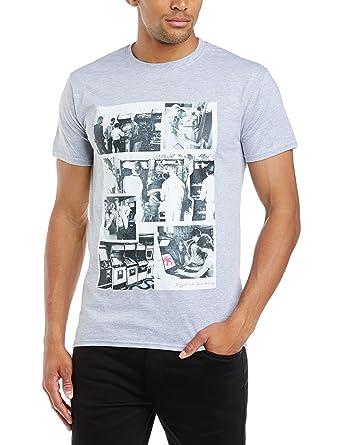 Brands In Limited Herren T-Shirt, Einfarbig Gr. Medium, Grau - Grau