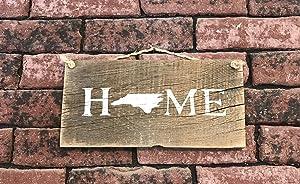 North Carolina State Home Barn Wood Sign
