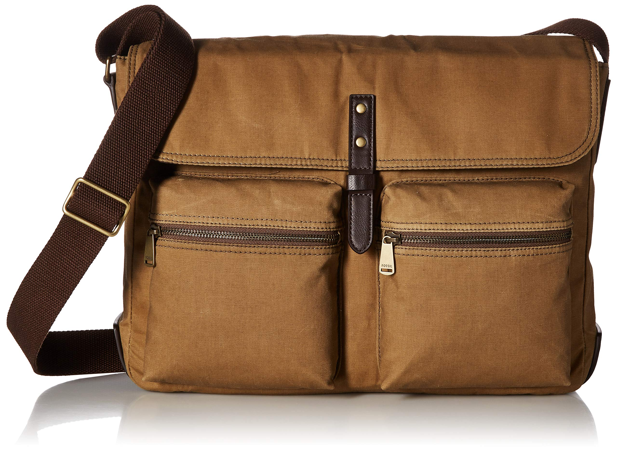 Fossil Men's Buckner Laptop Messenger Bag, Brown, One Size