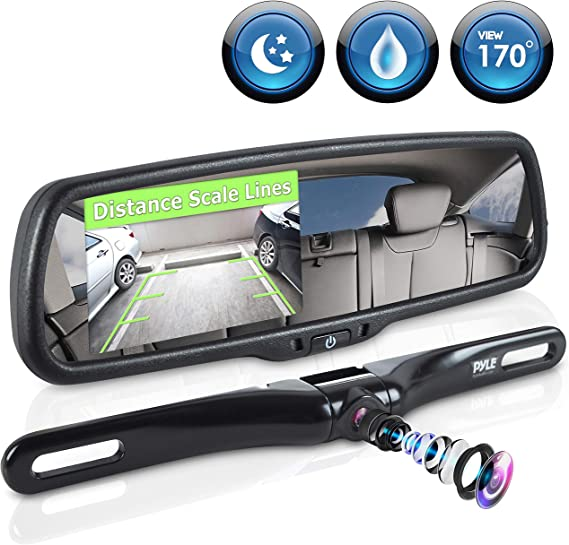 Car Easy Fit Interior Front Window Rear Parking Safety Mirror Glass Suction Unit