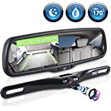 """Pyle Backup Car Camera Rear View Mirror Screen Monitor System with Parking & Reverse Safety Distance Scale Lines, OEM Fit, Waterproof & Night Vision, 170° Angle Adjustable, 4.3"""" LCD Display-(PLCM4550)"""