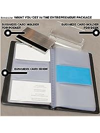 Business card holders amazon office school supplies desk 2289 prime acrylic desktop holder business card reheart Gallery