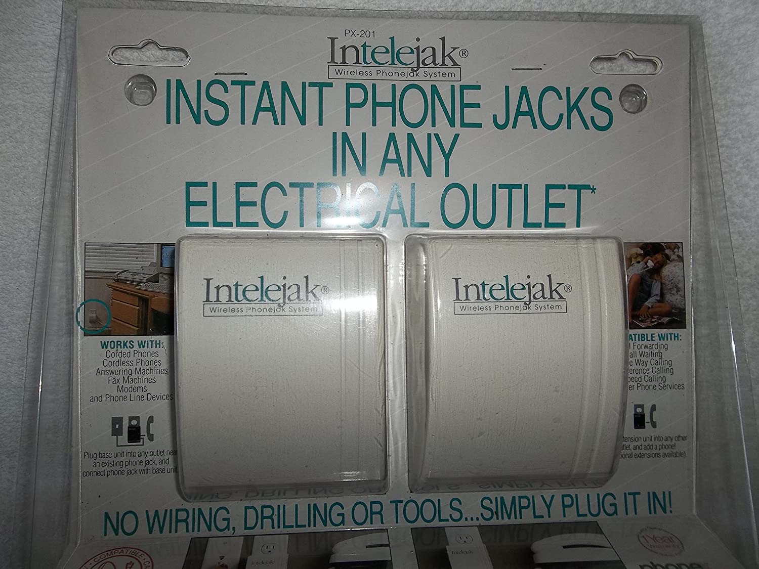 Wireless Instant Phone Jacks For Any Electrical Outlet Wiring A Plug By Intelejak Office Products