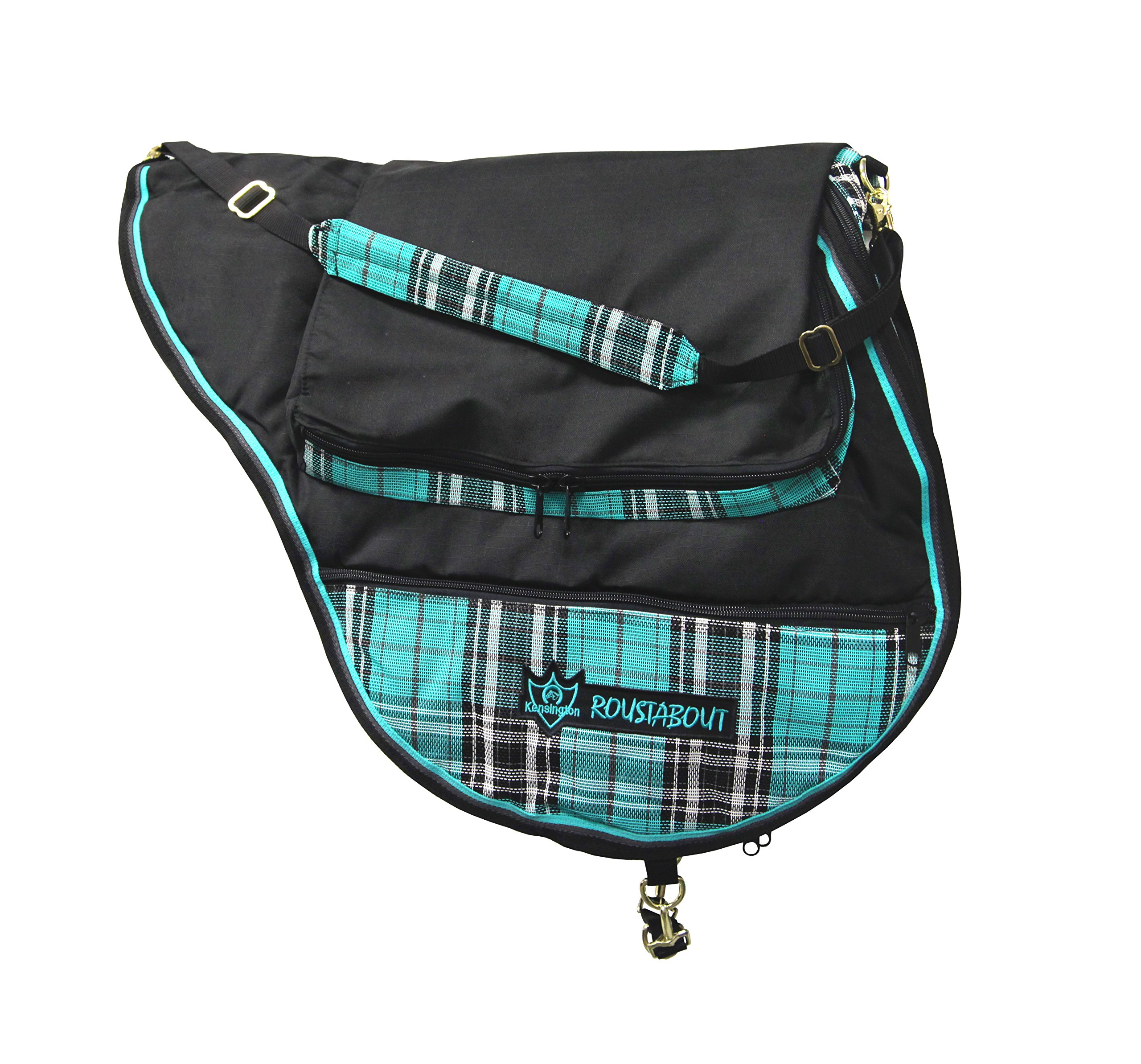 Kensington All Purpose Saddle Carrying Bag — Waterproof Outer Shell — Features Top Pad Storage Compartment — Padded Shoulder Pad for Carrying Comfort