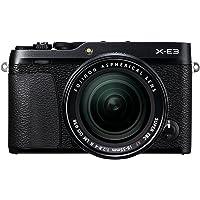 Fujifilm X-E3 Mirrorless Digital Camera, Black with Fujinon XF18-55mm F2.8-4 Optical Image Stabilisation Lens Kit