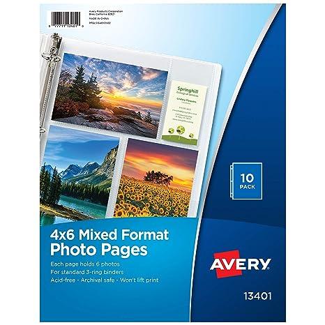 Amazon.com: Páginas para fotografía Avery ...