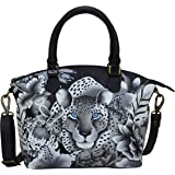 Anuschka Hand-Painted Leather Medium Convertible Satchel - Top Handle Shoulder Bag/Purse