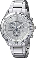 Citizen Men's Quartz Stainless Steel Casual Watch, Color:Silver-Toned (Model: AT2129-58A)