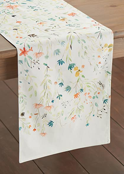 Lovely Maison Du0027 Hermine Colmar 100% Cotton Table Runner 14.5   Inch By 72