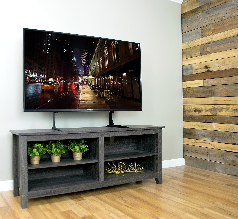 Flat Screen Tv Console Amazoncom Vivo Universal Lcd Flat Screen Tv Table Top Vesa Mount
