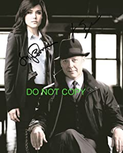 The Blacklist James Spader & Megan Boone reprint signed photo RP #3