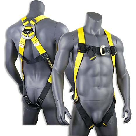 KwikSafety (Charlotte, NC) TORNADO 1D Fall Protection Full Body Safety  Harness | OSHA ANSI Industrial Roofing Tool Personal Protection Equipment |