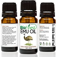 Biofinest Emu Organic Oil - Pure Moisturizer For Strengthened Hair, Stretch Marks, Scars, Joint & Muscle Pain - All In…