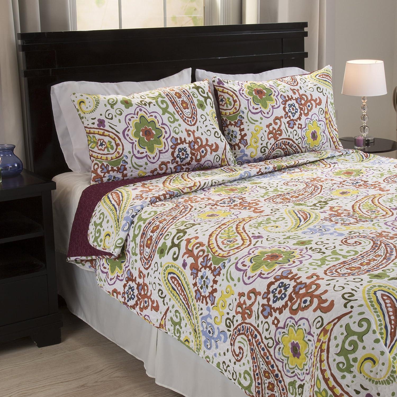 Lavish Home Trista 3 Piece Cotton Quilt Set - Full/Queen 66-10046-FQ