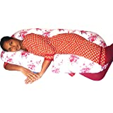 Bottom Genius C Shape Pregnancy Pillow & Maternity Pillow With 100% Cotton Printed Slipcover