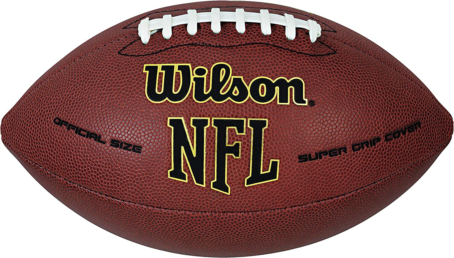 Wilson NFL Super Grip - Balón de fútbol Americano, Color marrón ...