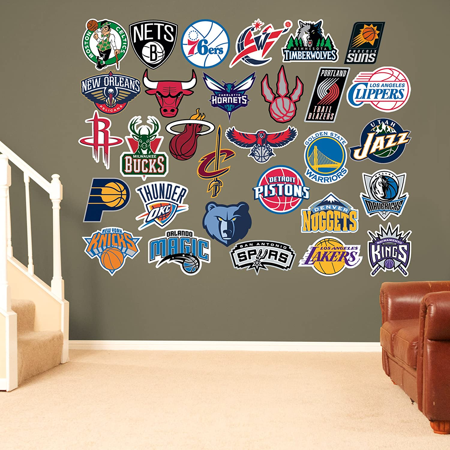 Nba Logo Collection Fathead Wall Decals Wall Decals Amazon Canada