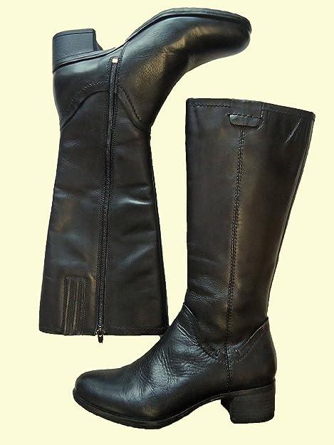 Details zu Amia Damen Cowboy Stiefel Leder Gr. 41 neu