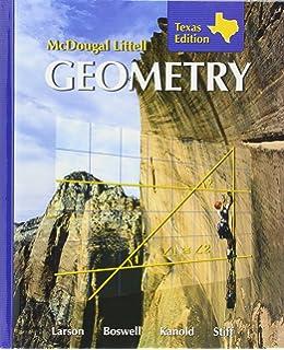 Amazon holt mcdougal larson geometry student edition 2008 mcdougall littell geometry texas edition hardcover fandeluxe Images