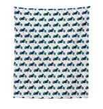 Lunarable Motorcycle Tapestry, Silhouettes of Retro