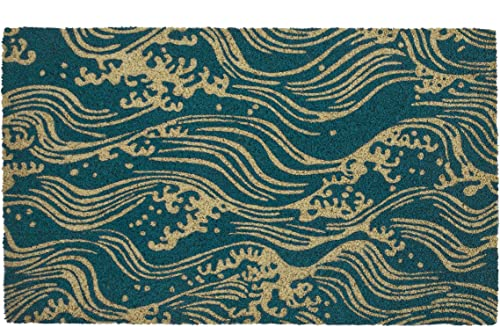 Entryways Victoria and Albert Museum Waves Coir Doormat, 18 inches by 30 inches by .5 inches