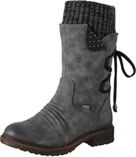 Rieker 94750, Bottes Hautes Femme: : Chaussures et Sacs