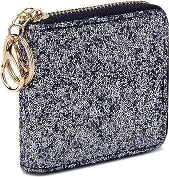 Women Girls Sequins Coin Purse Clutch Handy Bag Mini Wallet Key Chains Pouches
