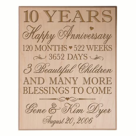 amazon com personalized 10 year anniversary gifts for couple 10th