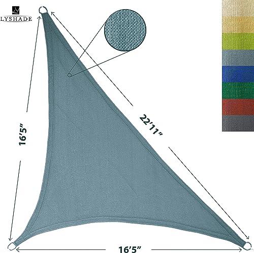 LyShade 16 5 x 16 5 x 22 11 Right Triangle Sun Shade Sail Canopy Cadet Blue – UV Block for Patio and Outdoor