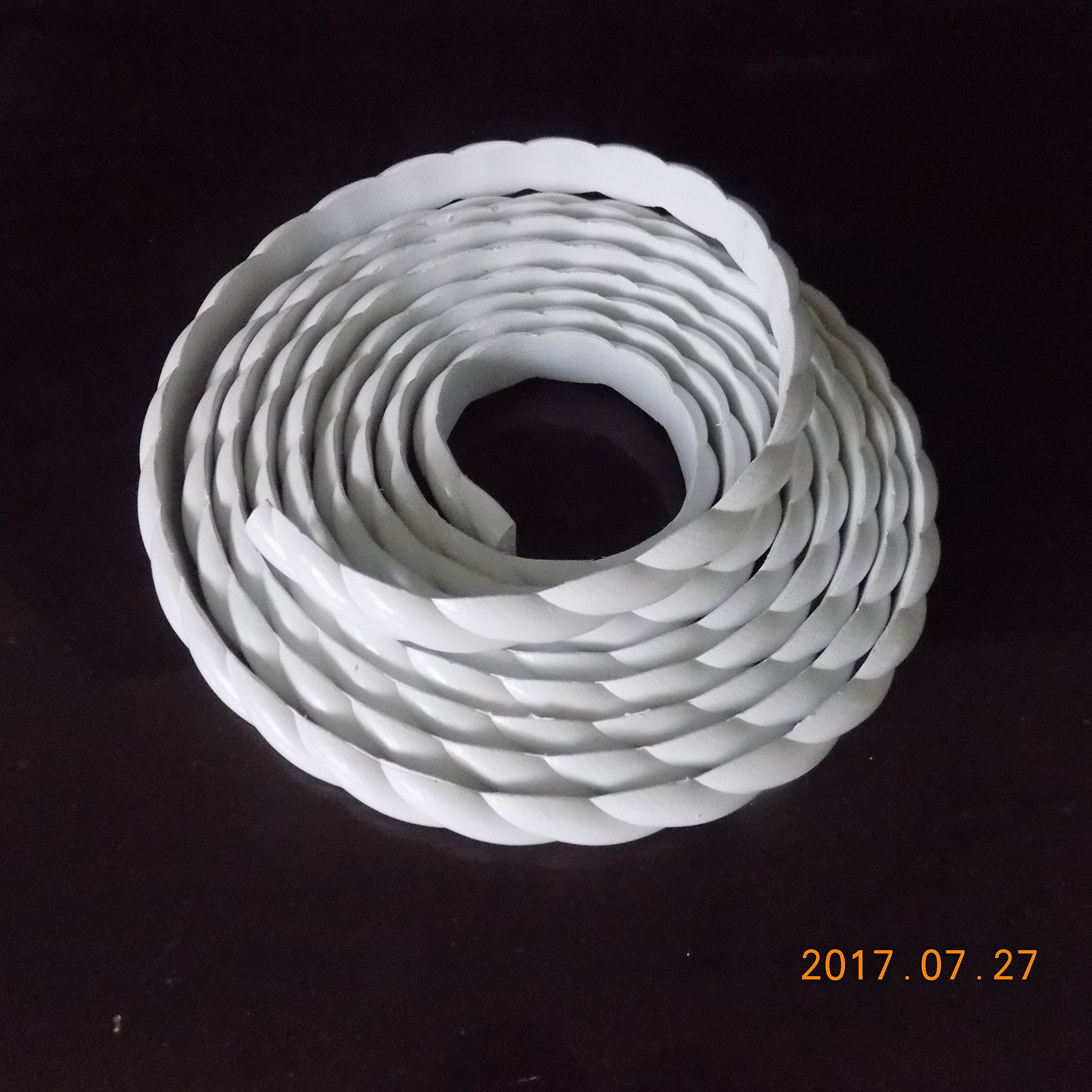Home Wall Door Flexible Molding Trim Cabinet Edge Rope Mouldings 0.6inch (1.5cm) x 115 inch x Thickness 0.27 inch