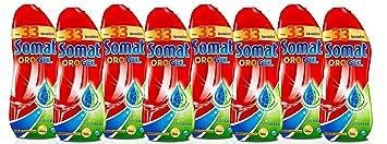 SOMAT Lavavajillas Gel Antigrasa Botella 33 lavados, Paquete de 8 ...