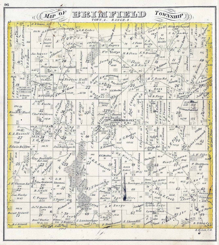 Amazon Com Historic Map Brimfield Township Portage County Ohio