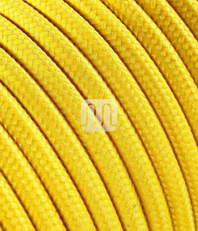 l/ámparas dise/ño Made in Italy. abat Jour Cable el/éctrico redondo redondo revestido de tela multicolor naranja naranja 2/x 0,75/para l/ámparas