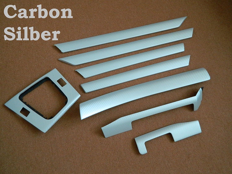 Dekorleisten Interieurleisten E46 3d Struktur Folien Set Carbon Silber Auto