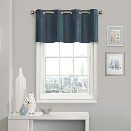 Eclipse Clara Blackout Window Valance, Teal