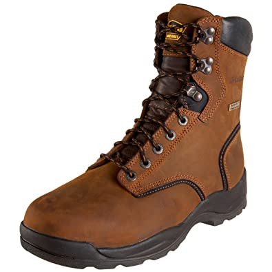 Steel Toe Lace-Up Work Boot Brown