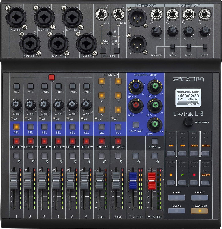 Zoom LiveTrak L-8 Podcast Mixer