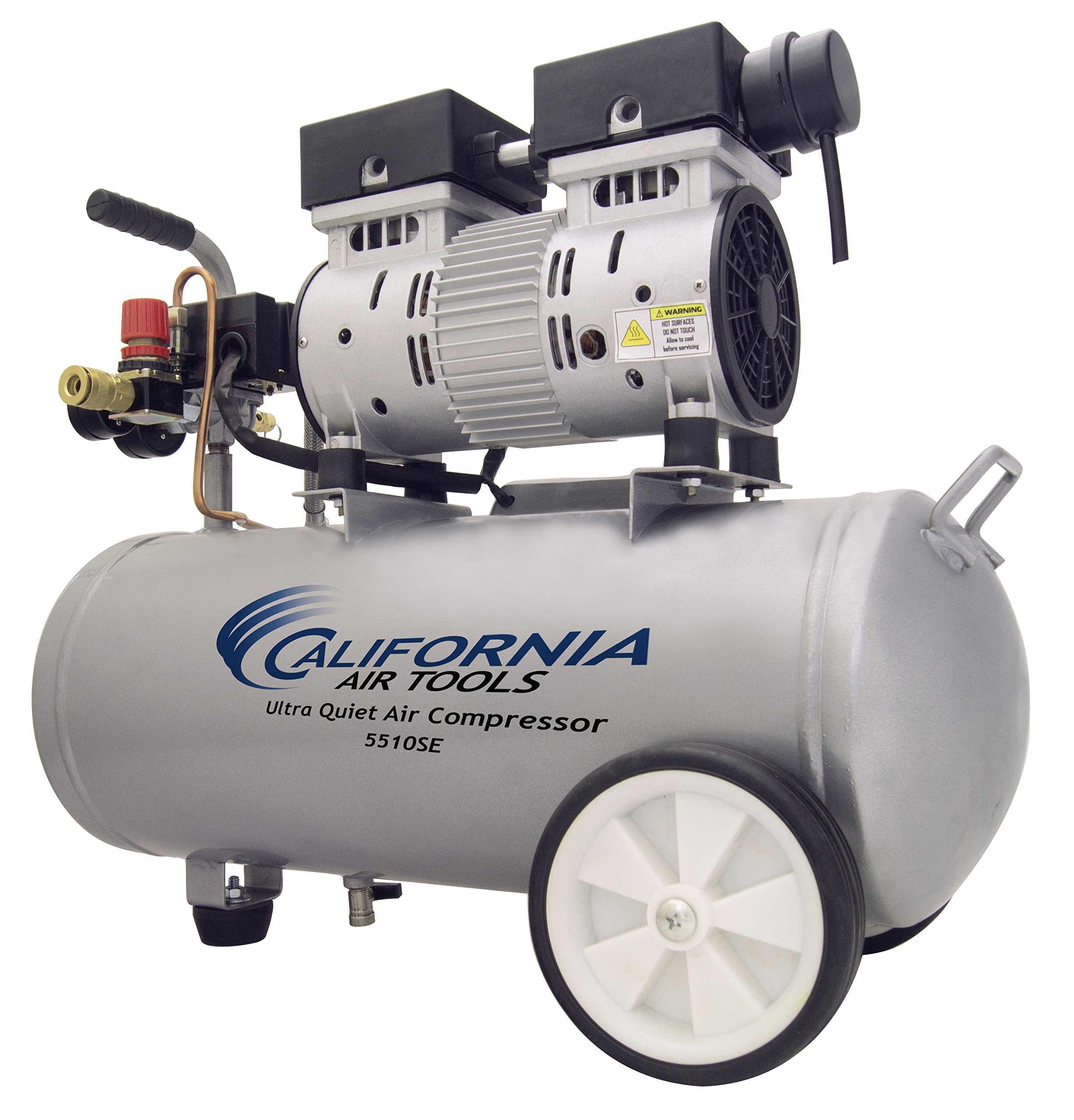 California Air Tools 5510SE Ultra Quiet and Oil-Free 1.0-HP 5.5-Gallon Steel Tank Air Compressor by California Air Tools (Image #5)