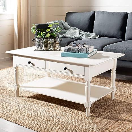 Safavieh American Homes Collection Boris Distressed Cream Coffee Table Amazon Ca Home Kitchen