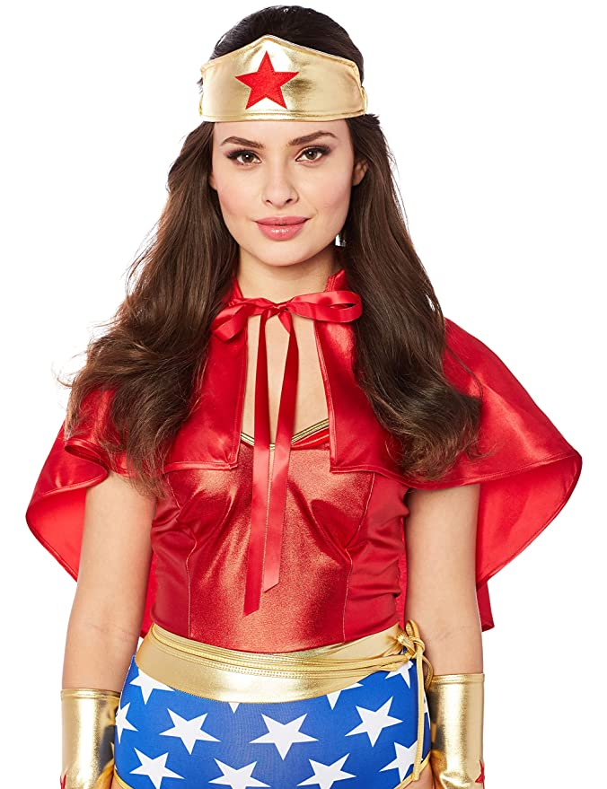 Amazon.com  Forplay Super Seductress Sexy Superhero Costume Red  Clothing 04aefcd12