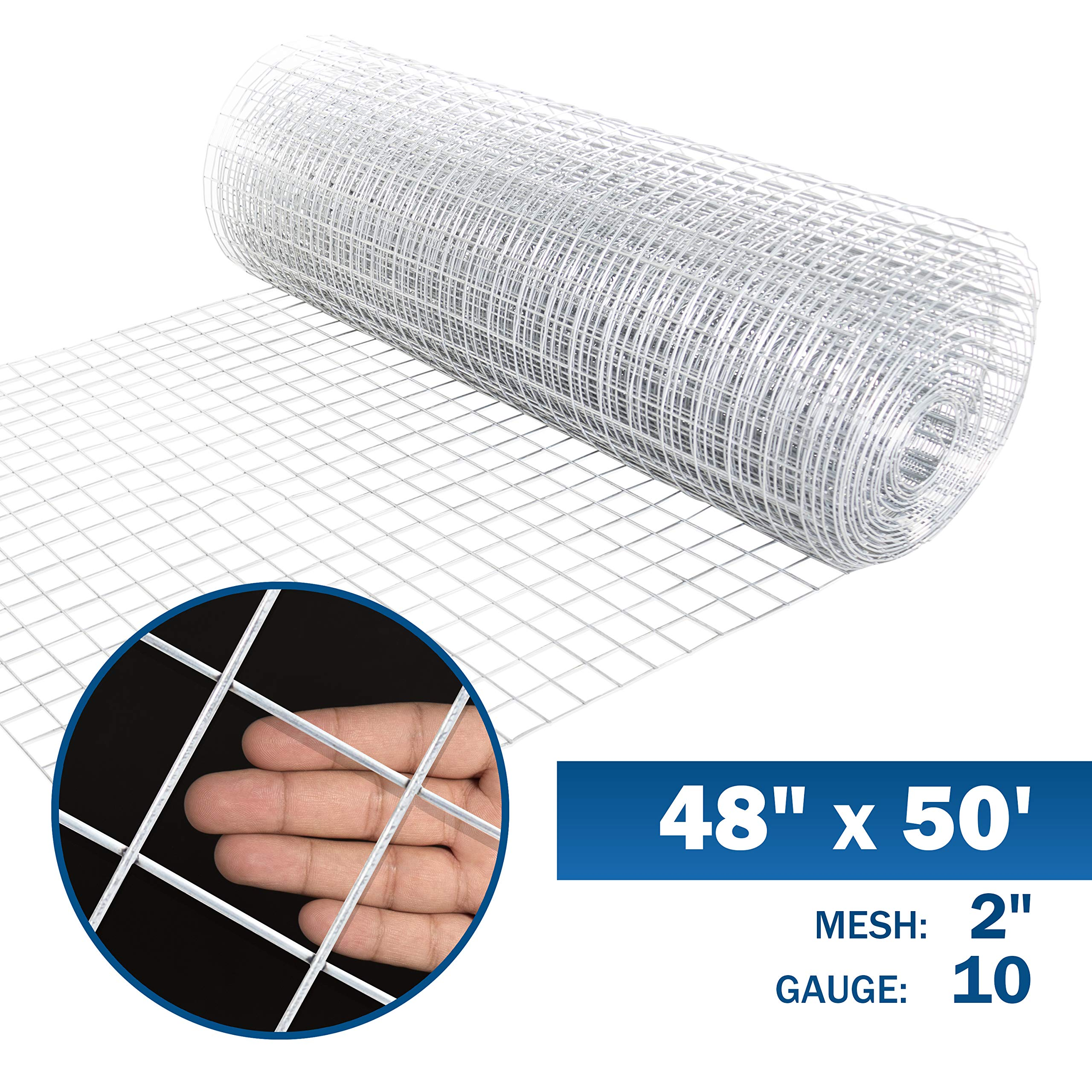 Fencer Wire 10 Gauge Galvanized Welded Wire Mesh Size 2 inch by 2 inch (4 ft. x 50 ft.) by Fencer Wire